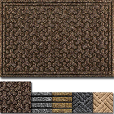 "Amagabeli 2 Pack Large Outdoor Door Mats Rubber Shoes Scraper 36"" x 24"" for Front Door Entrance Outside Doormat-Doormat-Amagabeli"