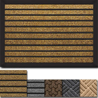"Amagabeli Large Outdoor Door Mats Rubber Shoes Scraper 36"" x 24"" for Front Door Entrance Outside Doormat-Doormat-Amagabeli"