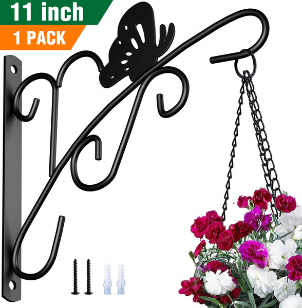 Amagabeli Hanging Plants Brackets 11'' Wall Planter Hooks Hangers for Flower Pot Bird Feeder Wind Chimes Lanterns Patio Lawn Indoor Outdoor