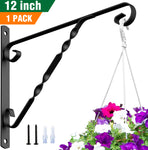 Amagabeli Hanging Plants Brackets 12'' Wall Planter Hooks Hangers for Flower Pot Bird Feeder Wind Chimes Lanterns Patio Lawn Indoor Outdoor