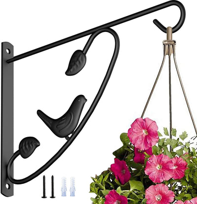 Amagabeli Hanging Plants Brackets 12'' Wall Planter Hooks Hangers for Flower Pot Bird Feeder Wind Chimes Lanterns Patio Lawn Indoor Outdoor-Plant Hook-Amagabeli
