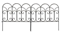 Amagabeli Garden & Home Decorative Garden Fence GFP004 Rustproof 18in x 7.5ft Metal Fence by Amagabeli-Decorative Fences-Amagabeli