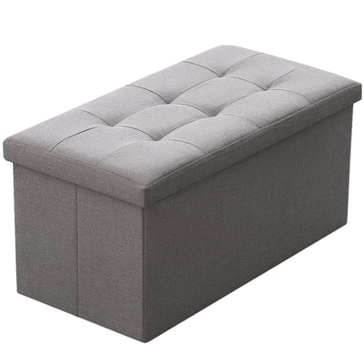 Camabel Folding Storage Ottoman Bench Cube 30 inch Fabric Storage Chest with Memory Foam Seat Footrest-ottoman-Amagabeli