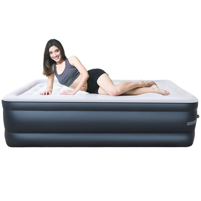 Camabel Air Mattresses with Built-in Electric Pump 18 Inch Twin Size Elevated Raised Inflatable Airbed-Air Mattress Bed-Amagabeli