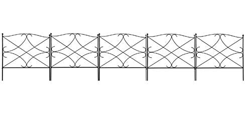 Decorative Fence for Garden 5 Fence Panels 24in x 10ft by Amagabeli