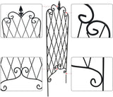 "Amagabeli Garden Trellis for Climbing Plants 47"" x 16"" Rustproof Black Iron Plant Trellis Potted Vines Vegetables Flowers10 Pack GT03-Trellises-Amagabeli"