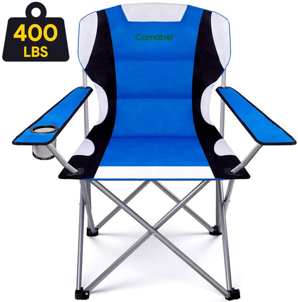 Camabel Folding Camping Chairs Outdoor Lawn Chair Padded Foldable Sports Chair Lightweight Fold up Camp Chairs-Folding Camping Chairs-Amagabeli