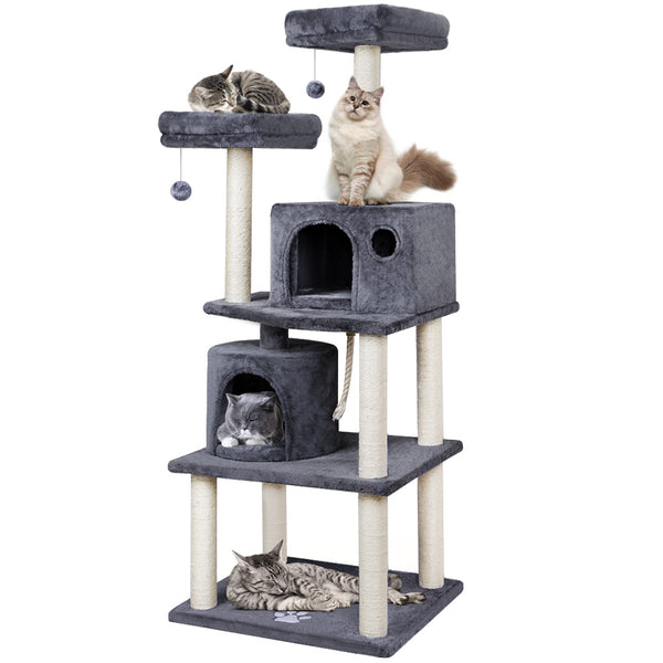Beau Jardin Cat Tree for Large Cats Condos and Towers for Big Cats with Perch and Condo Cat Tree House with Scratching Post Cat Condos-Pet Supplies-Amagabeli