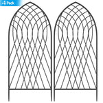 "Amagabeli 4 Pack Large Garden Trellis for Climbing Plants 75"" x 31"" Heavy Duty Rustproof Black Iron Plant Trellis for Potted Plants Support GT05-Trellises-Amagabeli"