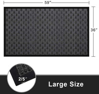 "Amagabeli 2 Pack Large Outdoor Door Mats Rubber Shoes Scraper 36"" x 59"" for Front Door Entrance Outside Doormat Rug Waterproof Carpet"