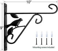 Amagabeli Hanging Plants Brackets 10'' Wall Planter Hooks Hangers for Flower Pot Bird Feeder Wind Chimes Lanterns Patio Lawn Garden Indoor-Plant Hook-Amagabeli