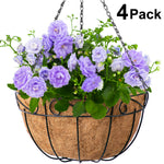 Metal Hanging Basket Planter 4 Pack 14 Inch