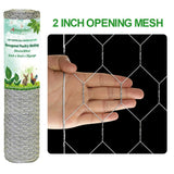 Amagabeli 2in 36inch x 50ft Hexagonal Poultry Netting Galvanized Chicken Wire Mesh Fence 20gauge Large Frame Garden Fencing-Hardware-Amagabeli