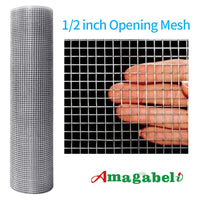 Amagabeli 36inx100ft 1/2inch 19 Gauge Square Galvanized Chicken Wire Galvanizing After Welding Fence Mesh Poultry Netting Cage Snake Fence-Hardware Cloth-Amagabeli