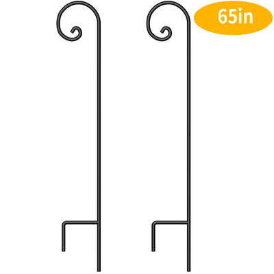 BEAU JARDIN 2 Pack Shepherd Hook 65 Inch 2/5 Inch Hummingbird Bird Feeder Pole Garden Outdoor Hanging Plants Basket Pathway Light Wedding Decor Metal-Shepherd Hook-Amagabeli