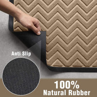 "Amagabeli Large Outdoor Door Mats Rubber Shoes Scraper 18"" x 30"" for Front Door Entrance Outside Doormat"