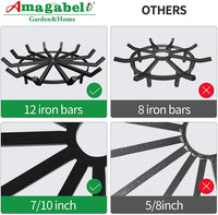 Amagabeli Fireplace Log Grate 27 inch Heavy Duty Wagon Wheel Firewood Grate-Fireplace Grate-Amagabeli
