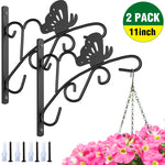 Amagabeli 2 Pack Hanging Plants Brackets 11'' Wall Planter Hooks Hangers for Flower Pot Bird Feeder Wind Chimes Lanterns Patio Lawn Indoor Outdoor