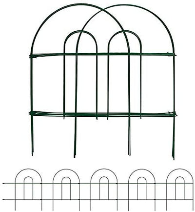 Decorative Fence for Garden Rustproof Dark Green 18 in x 50 ft by Amagabeli-Decorative Fences-Amagabeli