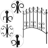Amagabeli Rustproof Garden Fencing 24inx10ft Decorative Metal Fence-Amagabeli