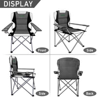 Camabel Folding Camping Chairs Outdoor Lawn Chair Padded Sports Chair Lightweight Fold up Camp Chairs-Folding Camping Chairs-Amagabeli