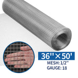 Amagabeli 36inch x 50ft SS304 Stainless Steel Welded Wire Mesh 1/2 inch Square Hardware Cloth 18 Gauge-Hardware Cloth-Amagabeli