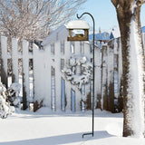 BEAU JARDIN 2 Pack Shepherd Hook 65 in Tall 1/2in Thick Hummingbird Bird Feeder Pole Garden Hanging Plants Basket Hanger Pathway Light Solar Lantern-Shepherd Hook-Amagabeli