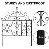 Amagabeli Decorative Garden Fence 32in x 20ft Black Metal Landscape Wire Folding Fencing Patio Wire Border-Amagabeli