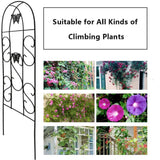 Amagabeli Garden & Home Butterfly Garden Trellis GTP003 Rustproof Black Iron Butterfly Potted Vegetables Flowers Patio Metal Lattices Grid Panels-Trellises-Amagabeli
