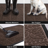 Outdoor Doormat Brown Carpet by Amagabeli-Doormat-Amagabeli