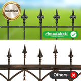 Amagabeli Decorative Garden Fence 27inx11ft Outdoor Coated Rustproof Metal Garden Fencing Panel Animal Barrier Iron Folding Edge Wire Border Fence