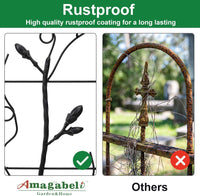 Amagabeli Decorative Garden Fence 27inx12ft Outdoor Coated Rustproof Metal Garden Fencing Panel Folding Edge Wire Border