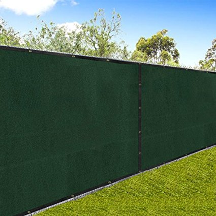 "Amagabeli 5'8""x50' Fence Privacy Fence Screen Heavy Duty for 6'x50' Chain Link Fabric Screen with Brass Grommets Outdoor 6ft Patio Fencing-Privacy Fences-Amagabeli"