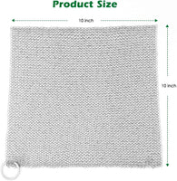 "Amagabeli 10""x10"" Cast Iron Cleaner Mesh Premium 316 Stainless Steel Small Rings with 3.8mm Opening Chainmail Scrubber for Cast Iron Pans Pre-Seasoned Pan Dutch Oven Waffle Iron Pans Skillet Cleaner-Cleaning Tools-Amagabeli"
