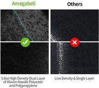 Amagabeli 3ft x 300ft Weed Barrier Landscape Fabric 5.8oz Heavy Duty Ground Cover Weed Cloth Geotextile Fabric Durable Mat