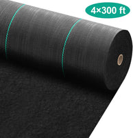 Amagabeli 4ft x 300ft Weed Barrier Landscape Fabric 5.8oz Heavy Duty Ground Cover Weed Cloth Geotextile Fabric Durable Driveway Cover Mat