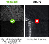 Amagabeli 4ft x 100ft Weed Barrier Landscape Fabric 5.8oz Heavy Duty Ground Cover Weed Cloth Geotextile Fabric Durable Driveway Cover Mat-Amagabeli