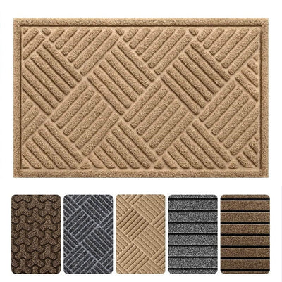 "Amagabeli 2 Pack Outside Shoe Mat Rubber Doormat for Front Door 18""x 30"" Outdoor Mats Entrance-Doormat-Amagabeli"