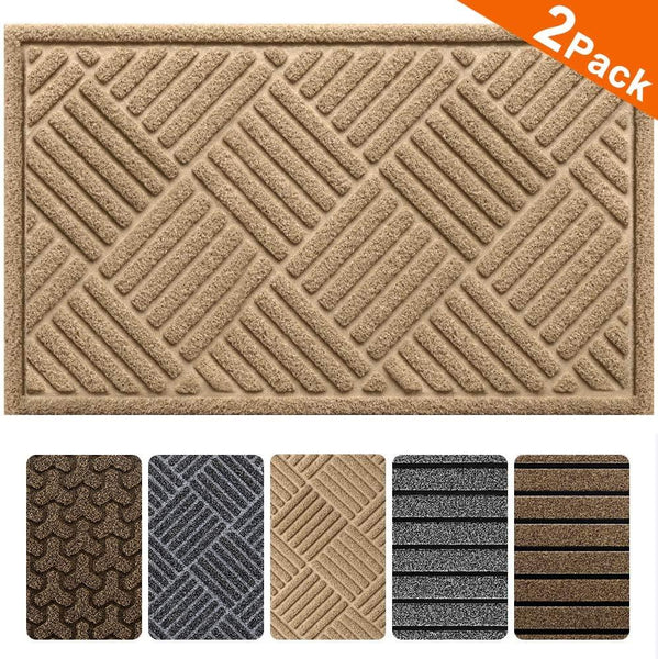 "Amagabeli 2 Pack Outside Shoe Mat Rubber Doormat for Front Door 18""x 30"" Outdoor Mats Entrance"