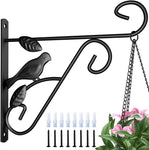 Amagabeli 4 Pack Hanging Plants Brackets 10'' Wall Planter Hooks Hangers for Flower Pot Bird Feeder Wind Chimes Lanterns Patio Lawn Garden Indoor-Plant Hook-Amagabeli