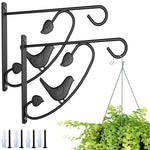Amagabeli 2 Pack Hanging Plants Brackets 12'' Wall Planter Hooks Hangers for Flower Pot Bird Feeder Wind Chimes Lanterns Patio Lawn Indoor Outdoor-Plant Hook-Amagabeli