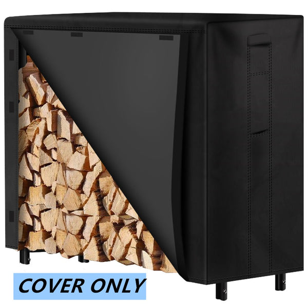 Amagabeli 4ft Firewood Log Rack Cover Weather Resistant Outdoor Waterproof Logs Holder Covering-Firewood Rack and Cover-Amagabeli