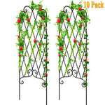 "Amagabeli 10 Pack Garden Trellis for Climbing Plants 60"" x 18"" Rustproof Black Iron Potted Vines Vegetables Vining Flowers Patio Metal GT04-Trellises-Amagabeli"