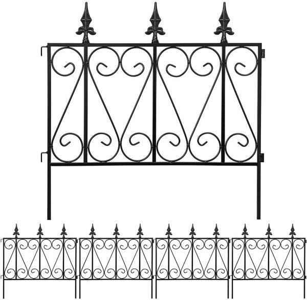 Amagabeli Garden Fence Rustproof Metal Wire Fencing 24inx10ft Outdoor Landscape Decorative Border Edge Section Edging Folding Wire Patio Fences-Decorative Fences-Amagabeli