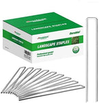 Amagabeli 8 Inch Galvanized Landscape Staples 500 Pack Garden Stakes Heavy-Duty Sod Pins Anti-Rust Fence Stakes-Landscape Staples-Amagabeli