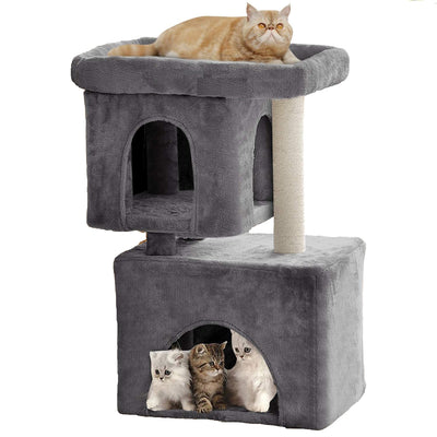Beau Jardin Cat Tree for Large Cats Condos and Towers for Big Cats with Perch and Condo Cat Tree House with Scratching Post Cat Activity Condos-Pet Supplies-Amagabeli