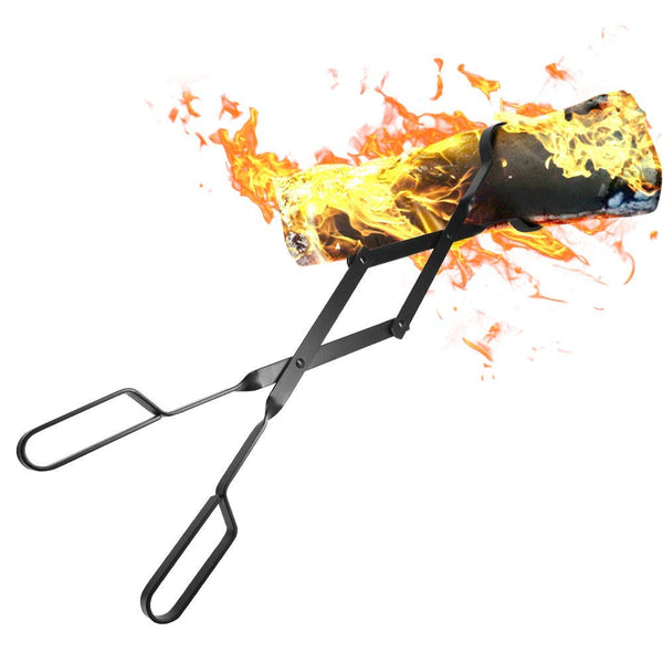 "Fireplace Logs Tongs 26"" Heavy Duty Indoor Firewood Tongs-Fireplace Tools-Amagabeli"