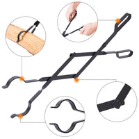Heavy Duty Indoor Firewood Tongs
