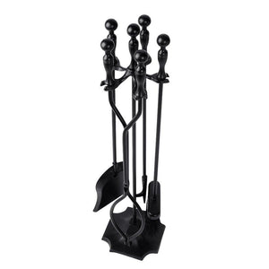 black fireplace tools