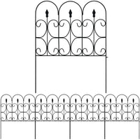 Amagabeli Garden & Home Decorative Garden Fence GFP003 Outdoor 32in x 10ft Coated Metal Fence by Amagabeli-Decorative Fences-Amagabeli